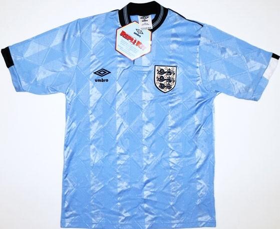 Náhradný dres Anglicka z rokov 1987 - 1990.