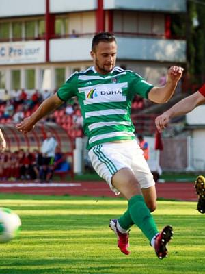 Zelené dresy s bielymi trenírkami a zelenými štulpňami (29. kolo, BB - Prešov)
