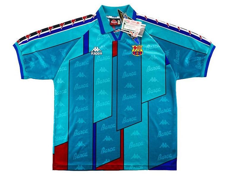 Zelenomodré dresy Kappa zo sezóny 1996/97.
