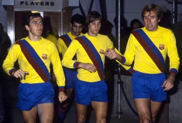 Náhradné dresy Barcelony z roku 1979.